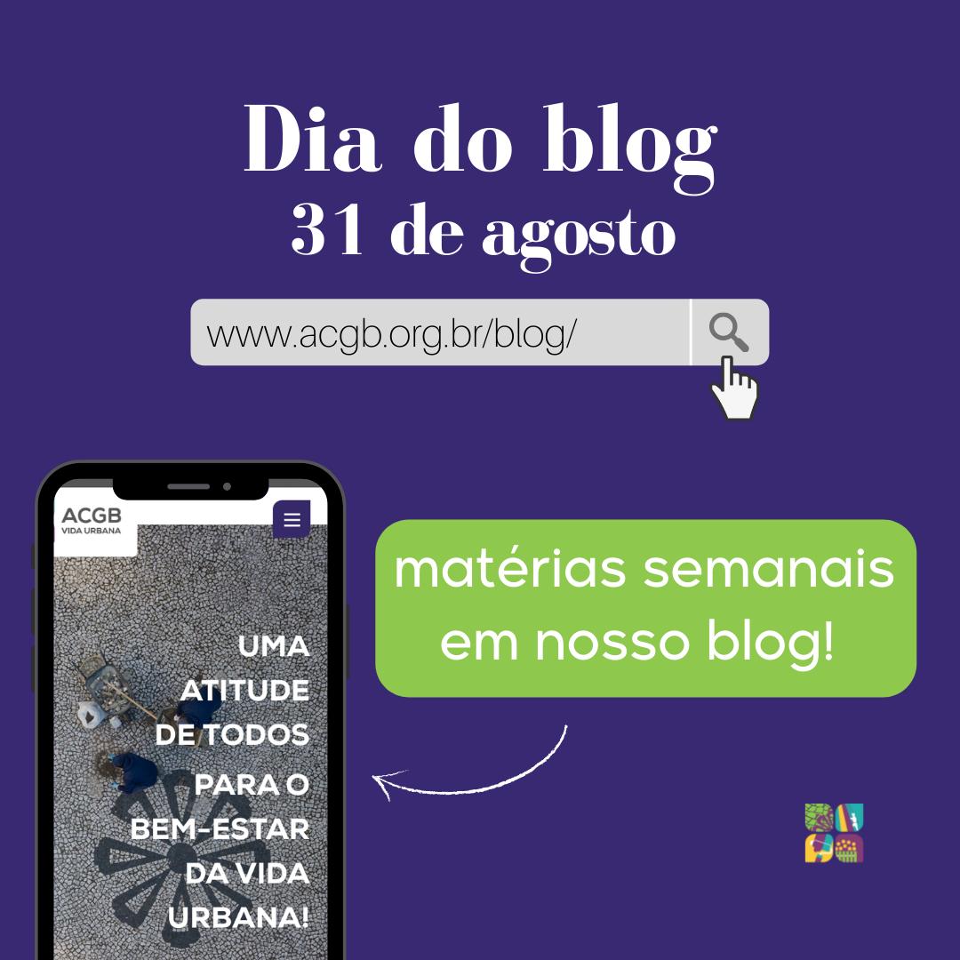 """Hoje é dia do blog e é sempre bom lembrar que """"nós blogamos"""""""